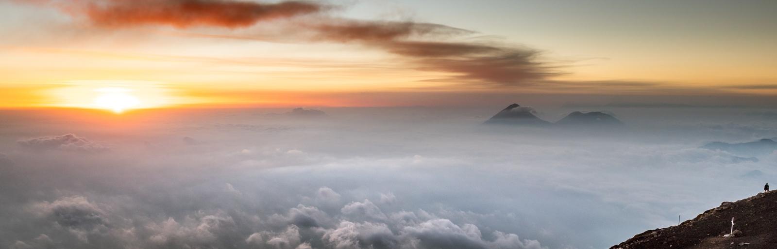 View from volcano Acatenango, Guatemala
